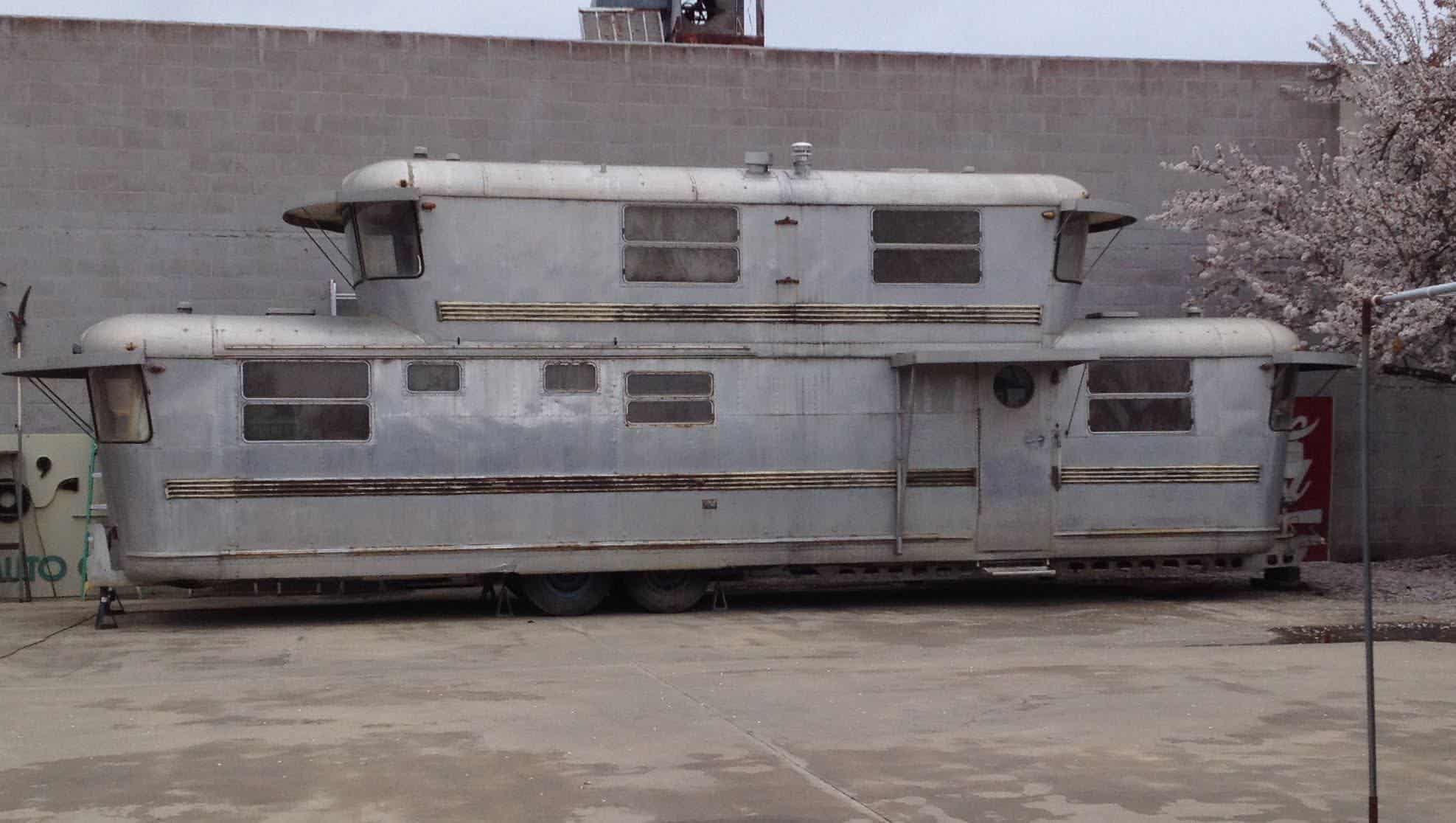 An amazing two-story trailer and the girl who called it home - RV ...