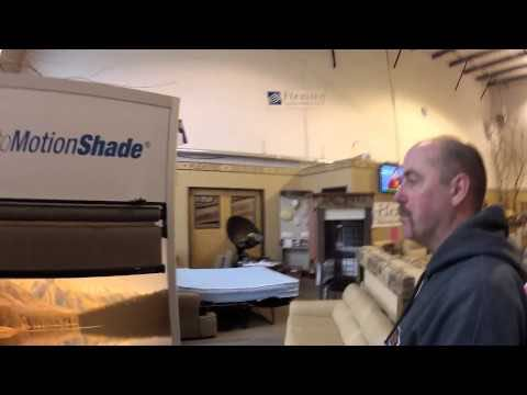 An option to standard RV day and night pleated window shades