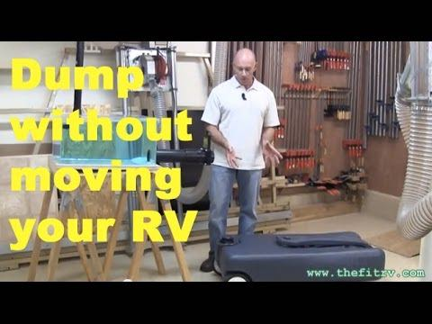 Dump your RV's wastes with a portable waste tank tote