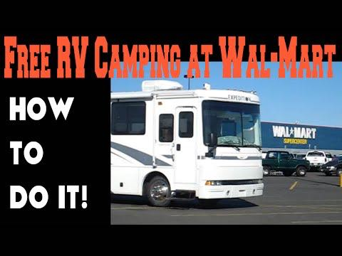 Free RV camping at Wal-Mart. How to do it.