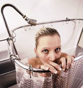 shower scared