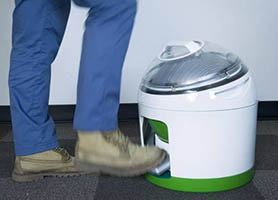 Foot-powered washing machine