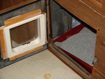 RV Mods: An access door for your cat -- or dog