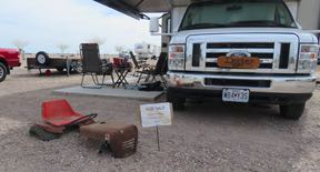 RVer's tractor gets attention in RV park