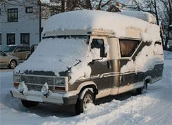 Preventing winter RV roof damage