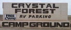 free camping sign
