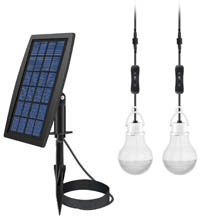 Solar lamp for your campsite or picnic table