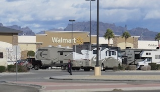 Is staying overnight in an RV at Walmart in jeopardy?