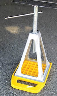 RV Stabilizer Jack Pads help prevent jacks from sinking - RV Travel