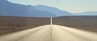 Long road in desert