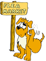 "Has your dog been shopping at the ""Flea"" Market?"