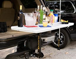 Tailgate table perfect for tailgate parties and camping