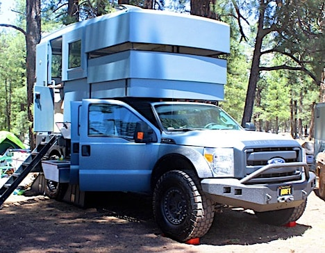 Off-road RV pops up to three-tier body