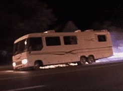Police chase RV from Lake Tahoe – but the motorhome kept going