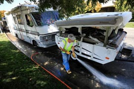 Homeless RVer problem in Santa Rosa business park coming to a head