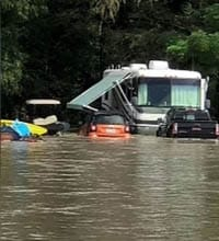 No warning, but in a flash, the river overflowed, RVs washed away