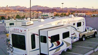 Casinos offer RVers secure overnight camping, games, cheap buffets