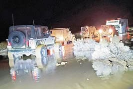 Fulltime RVer rescued from flash-flooded lake bed campsite