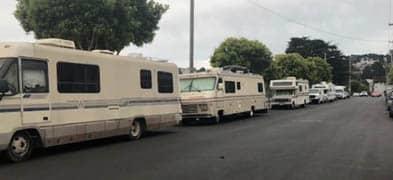 San Francisco neighborhood blames city for homeless RV