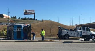 Brake failure causes RV to roll over in South Dakota