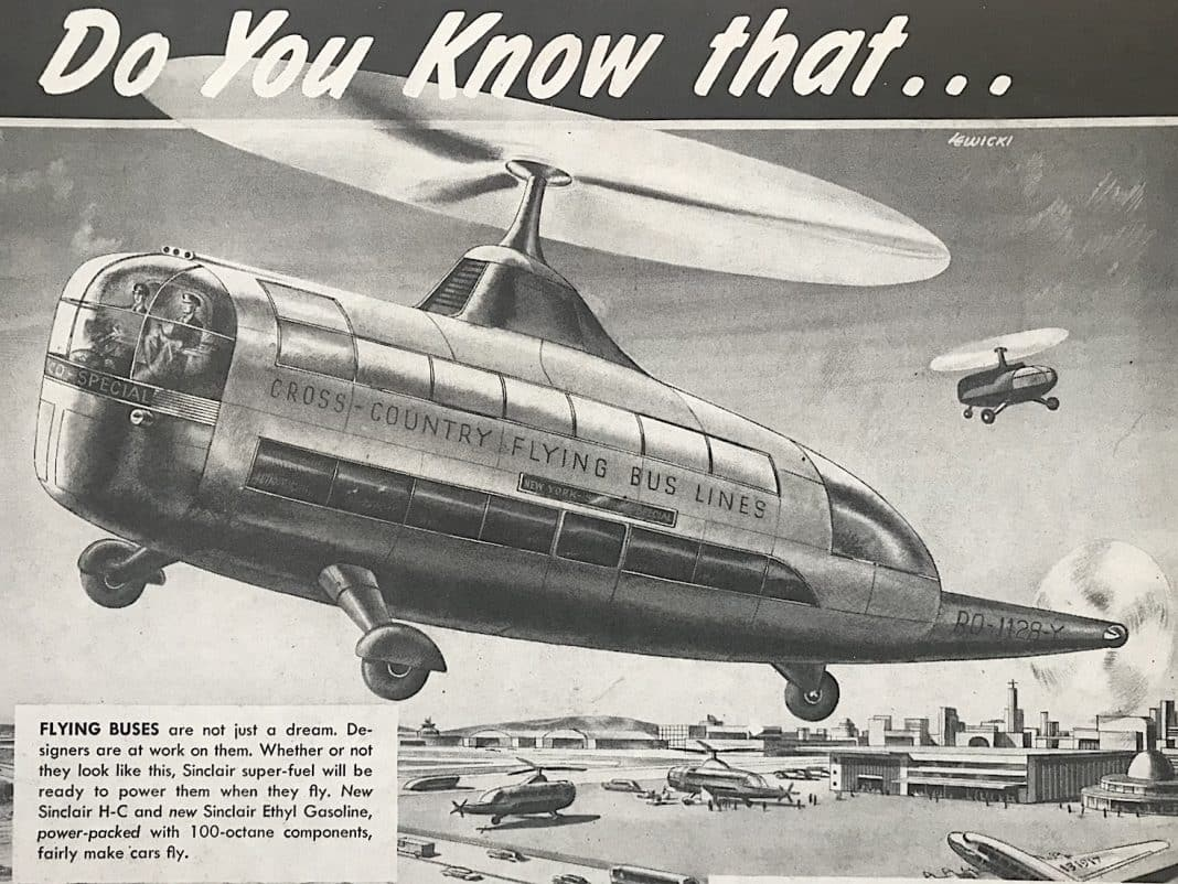 Flying buses: The future is (not) here!
