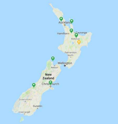 Planning an RV trip to New Zealand (or anywhere) by saving places in Google Maps