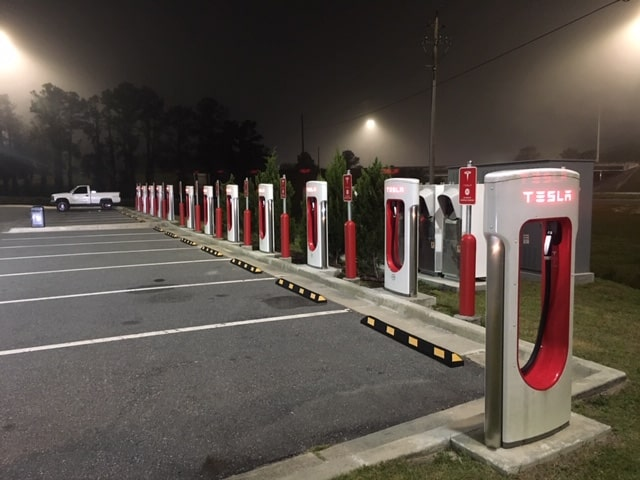 RV Electricity – Can an RV be plugged into a Tesla charging station?