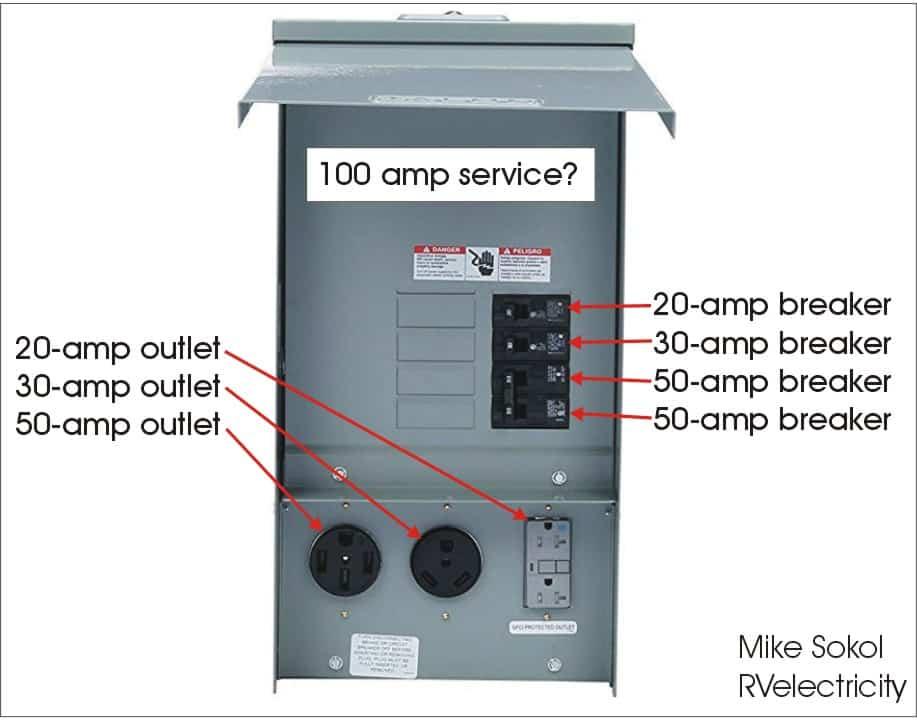 50 amp gfci breaker wire diagram rv electricity     pedestal power basics rv travel  rv electricity     pedestal power basics