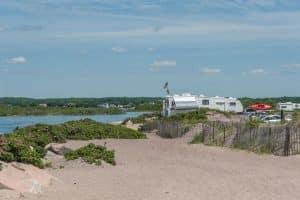 "Over 400 miles of shoreline define tiny Rhode Island's motto, ""The Ocean State"""