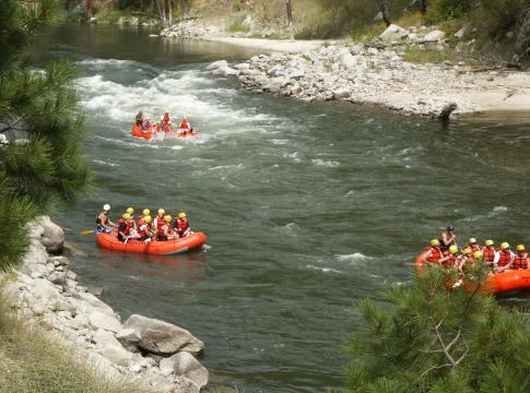 For scenic views and whitewater rafting drive the Payette River National Scenic Byway