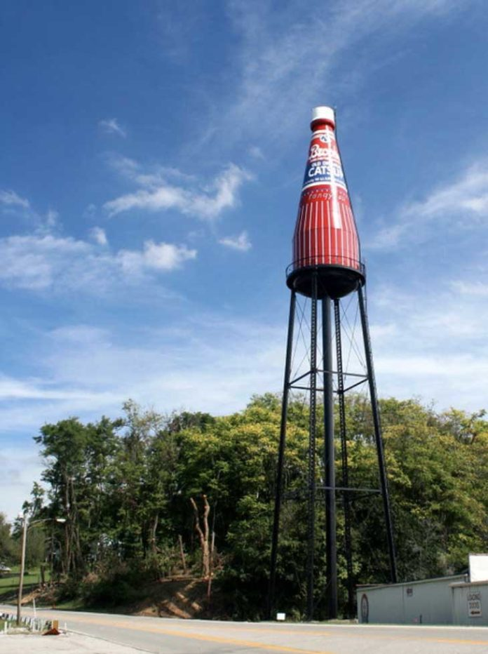 """The world's largest """"catsup"""" bottle"""