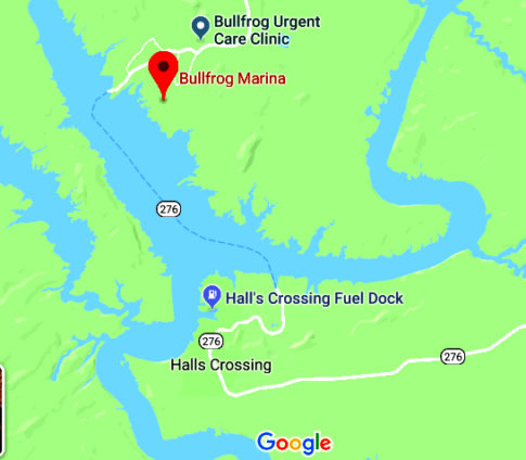 Lake Powell Ferry Crossing Map