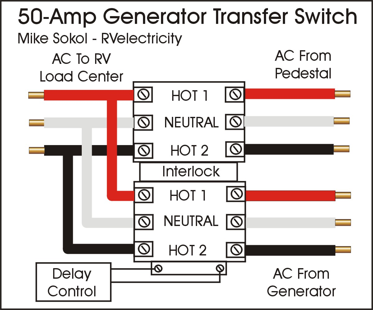 Generator Automatic Changeover Switch Wiring Diagram