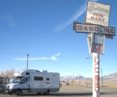 Lonely Mina, Nevada. Not a ghost town, but close
