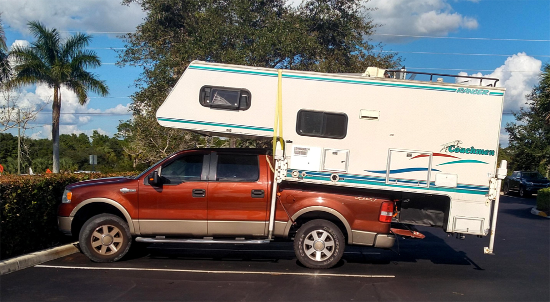 Truck Camper Recipe For Disaster Folds Down On The Street Rv Travel