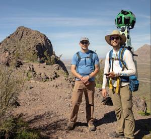hikers with google camera