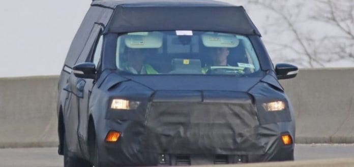 The pending new Ford pickup is still under wraps.