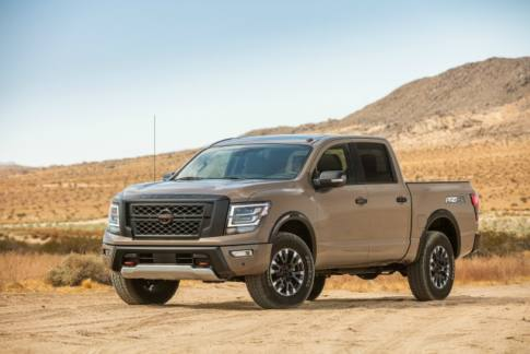 The Nissan TITAN full-size pickup undergoes an extensive redesign for the 2020 model year. The new TITAN features substantial powertrain updates and unique styling for different trim levels. TITAN now also offers standard Nissan Safety Shield 360 across all grade levels.