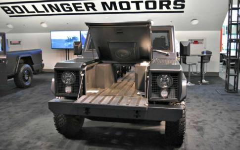 Bollinger Motors manufactures the B1 and B2 utilitarian electric trucks.