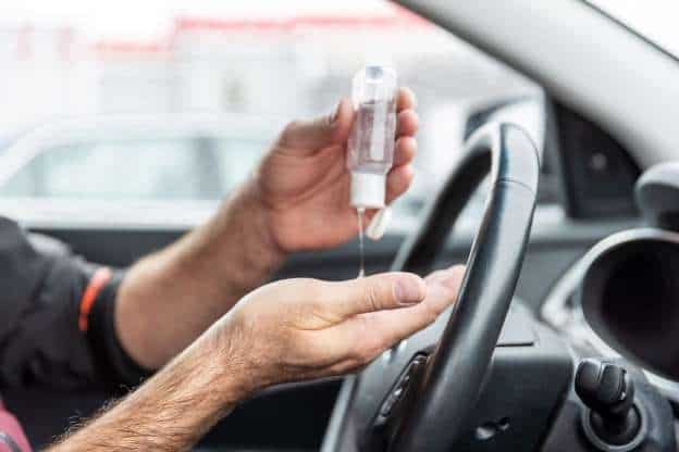 Hand santizer will not explode if left inside a vehicle in hot weather conditions.