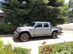 The 2020 Jeep Gladiator odd-looking as convertible pickup truck.