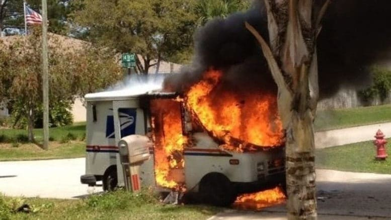 US Postal Service trucks are burning at an alarming rate.