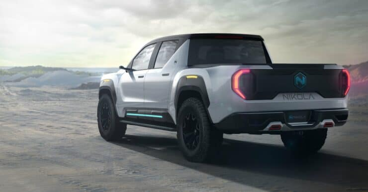 The Nikola Badger, a hydrogen/electric hybrid, was announced in June and is being marketed to debut in December.