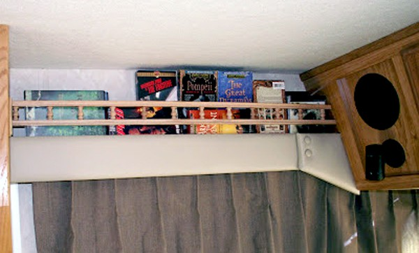 Do-it-yourself RV book rack