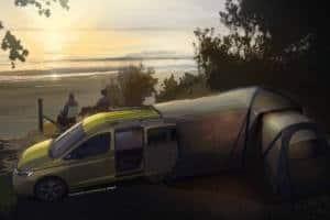 Volkswagen wil soon debut a new minivan that expands.