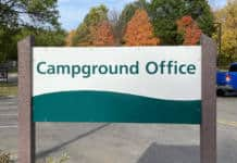 Campground Office Sign