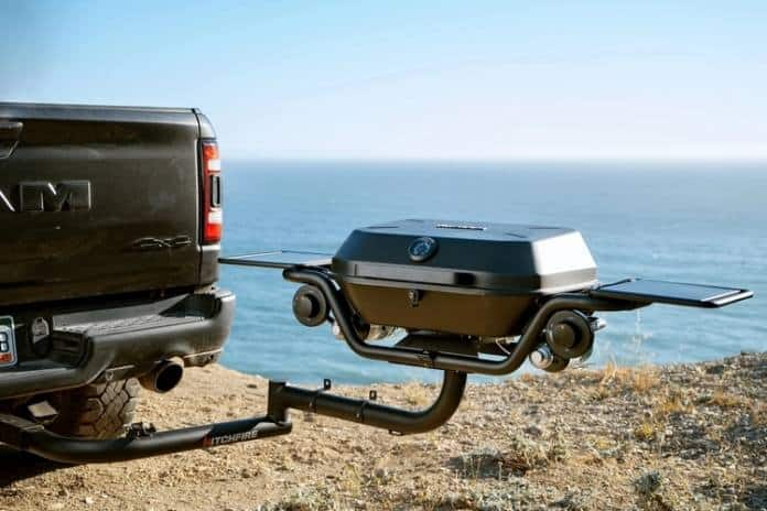 The HitchFire Forge 15 grill goes anywhere.