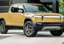 The Rivian pickup was introduced at the 2018 LA Auto Show.