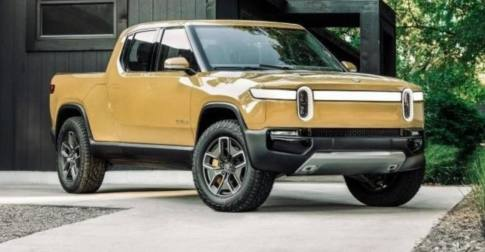 The Rivian electric pickup truck was introduced at the 2018 LA Auto Show.