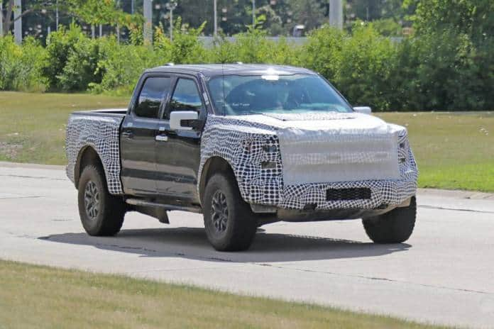 The 2022 Ford F-150 Raptor is still under wraps.